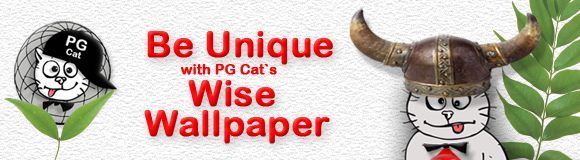 Be Unicue with PG Cat`s Wise Wallpaper