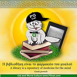 A library is a repository of medicine for the mind | Η βιβλιοθήκη είναι το φαρμακείο του μυαλού