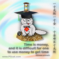 Time is money, and it is difficult for one to use money to get time | 一寸光阴一寸金 寸金难买寸光阴