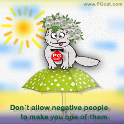 Don`t allow negative people to make you one of them