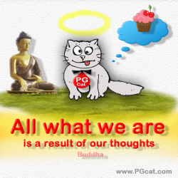 All what we are is a result of our thoughts. Buddha