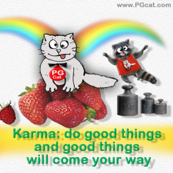 Karma: do good things and good things will come your way