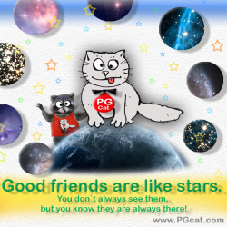 Good friends are like stars. You don`t always see them, but you know they are always there!