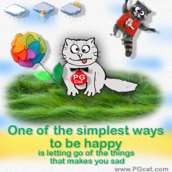 One of the simplest ways to be happy is letting go of the things that makes you sad