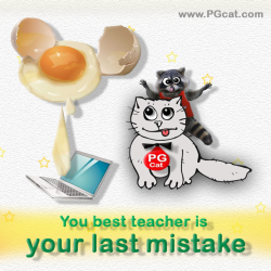 You best teacher is your last mistake