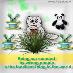 Being surrounded by wrong people is the loneliest thing in the world