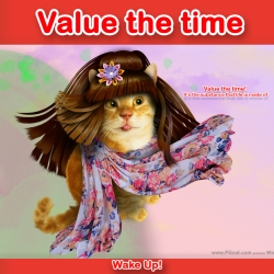 Value the time! It's the substance that life is made of.