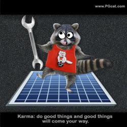 Karma: do good things and good things will come your way.