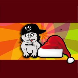 Cristmas and New Year Greeting Cards Templates PG Cat 2