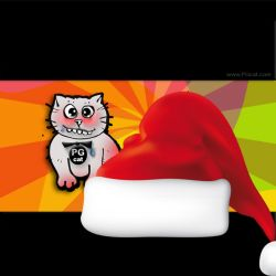 Cristmas and New Year Greeting Cards Templates PG Cat 4