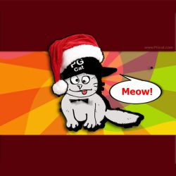 Cristmas and New Year Greeting Cards Templates PG Cat 5